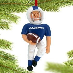 Personalized Football Player (Blue)