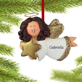 Personalized Angel with Gold Star (Girl)