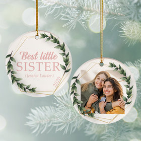 Personalized Best Little Sister Photo