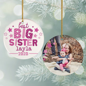 Personalized Best Big Sister Photo
