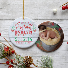 Personalized Baby's First Christmas Photo