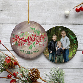 Personalized 'Merry and Bright' Family Photo