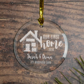 Personalized Our First Home (Etched)