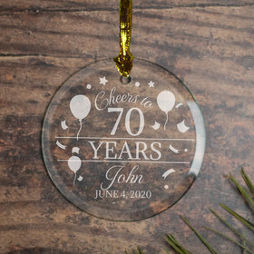 Personalized Cheers to 70 Years (Etched)