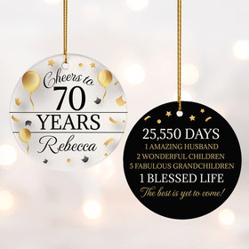 Personalized Cheers to 70 Years