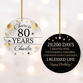 Personalized Cheers to 80 Years