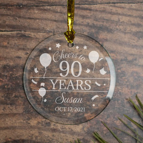 Personalized Cheers to 90 Years (Etched)