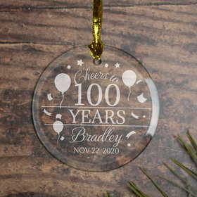 Personalized Cheers to 100 Years (Etched)