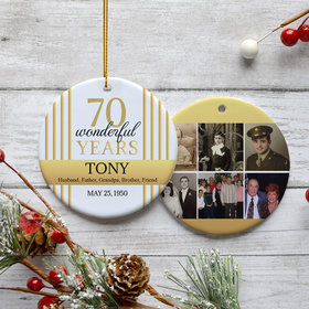 Personalized 70th Birthday Collage Photo