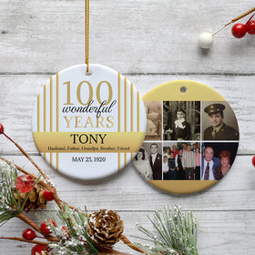 Personalized 100th Birthday Collage Photo
