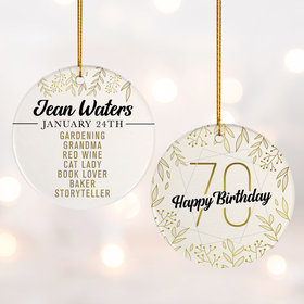 Personalized 70th Birthday Favorites Photo
