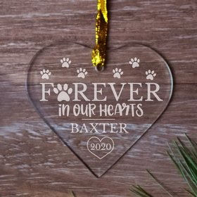 Personalized Memorial Forever Hearts (Etched)