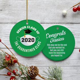 Personalized Quarantined Graduation Ornament