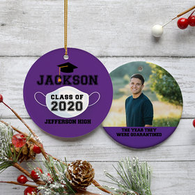 Personalized Quarantined Graduation Photo Ornament