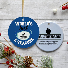 Personalized E-Teacher Ornament
