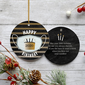 Personalized Pandemic Birthday - Black/Gold