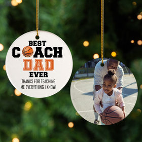 Personalized Best Coach Dad Basketball
