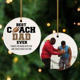 Personalized Best Coach Dad Football