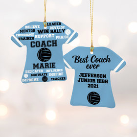 Personalized Best Coach Volleyball - Purple