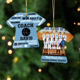 Personalized Best Coach Basketball with Image - Purple