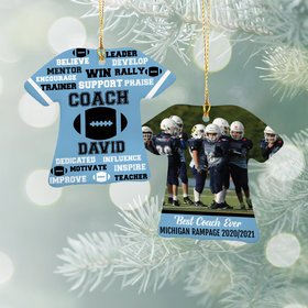 Personalized Best Coach Football with Image - Purple