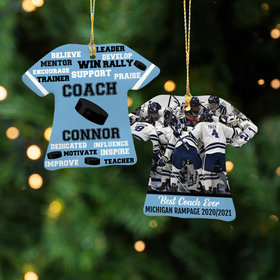 Personalized Best Coach Hockey with Image - Purple