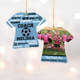 Personalized Best Coach Soccer with Image - Purple