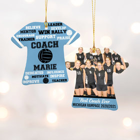 Personalized Best Coach Volleyball with Image - Purple