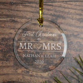 Personalized First Xmas as MR & Mrs