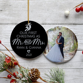 Personalized First Christmas as Mr. & Mrs.