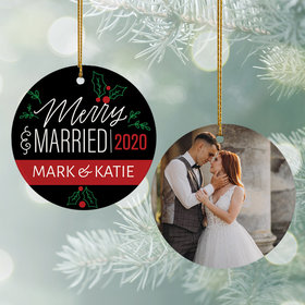 Personalized Merry & Married Wedding Photo