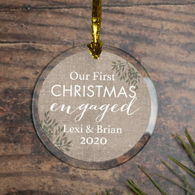 Personalized First Christmas Engaged