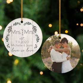 Personalized Love is Love Mrs & Mrs Photo