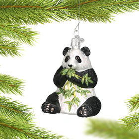 Personalized Panda with Bamboo