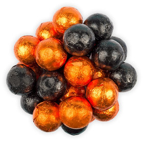 Halloween Black and Orange Caramel Balls