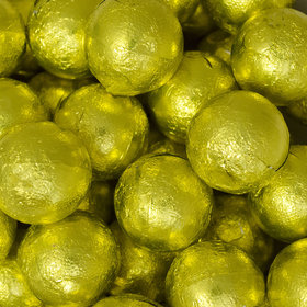Yellow Caramel Filled Foil Balls