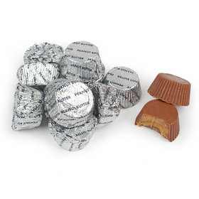 Just Candy Silver Foil Peanut Butter Cups