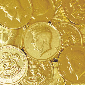 Half Dollar Gold Chocolate Coins