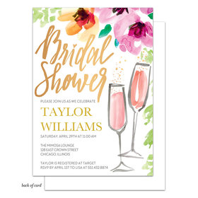 Bonnie Marcus Collection Personalized Painterly Blossoms Bridal Shower Invitation