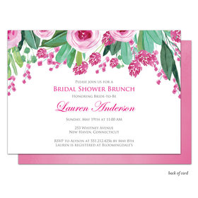 Bonnie Marcus Collection Personalized Bridal Shower Plum Bridal Blossoms Invitation