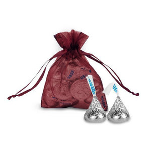 Extra Small Organza Bag - Pack of 12 Burgundy