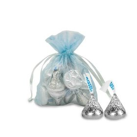 Extra Small Organza Bag - Pack of 12 Light Blue