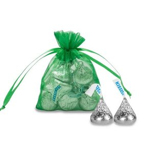 Extra Small Organza Bag - Pack of 12 Emerald