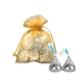 Extra Small Organza Bag - Pack of 12 Gold