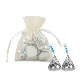 Extra Small Organza Bag - Pack of 12 Ivory