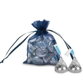 Extra Small Organza Bag - Pack of 12 Navy Blue