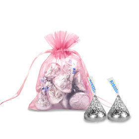 Extra Small Organza Bag - Pack of 12 Pink