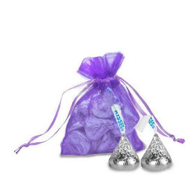 Extra Small Organza Bag - Pack of 12 Purple