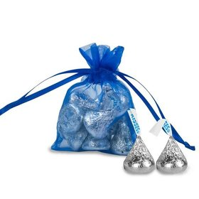 Extra Small Organza Bag - Pack of 12 Cobalt