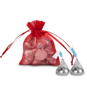 Extra Small Organza Bag - Pack of 12 Red